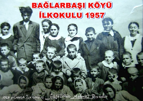 Geyve Bağlarbaşı Köyü İlkokulu 1957 yılı