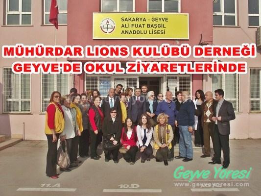 Mühürdar Lıons Kulübü Derneği Geyve'de (video)