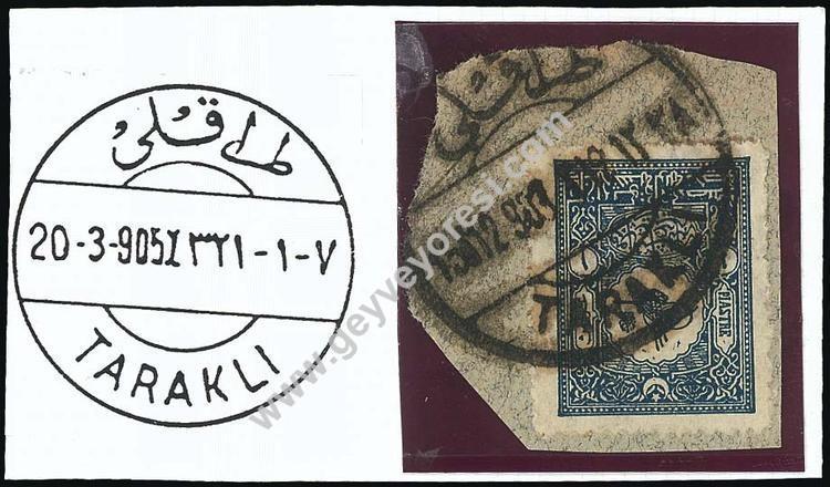 Taraklı'dan Gönderilmiş 20.03.1905 Tarihli Pul