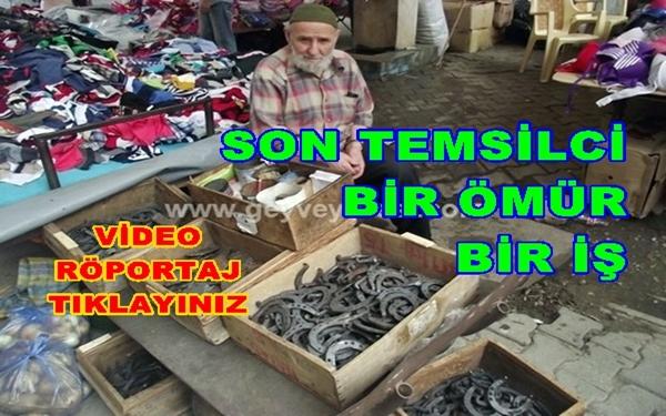 Geyve'deki Son Nalbant Mehmet Atar (84) Geyve Perşembe Pazarında (video)