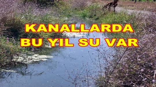 Geyve Ovasında Kanallarda Su Var